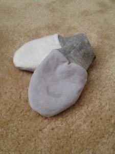 homemade fleece mittens