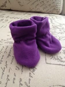 Handmade winter baby shoes