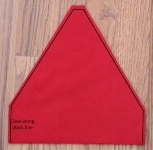 How to sew a baby Santa Hat tutorial - QA Creations e7c9d34102f