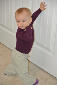 O+S Hopscotch knit onesie and Sandbox Pants