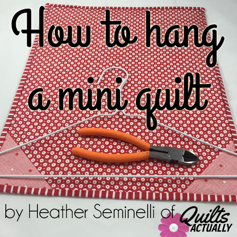 how to hang a mini quilt qa creations. Black Bedroom Furniture Sets. Home Design Ideas