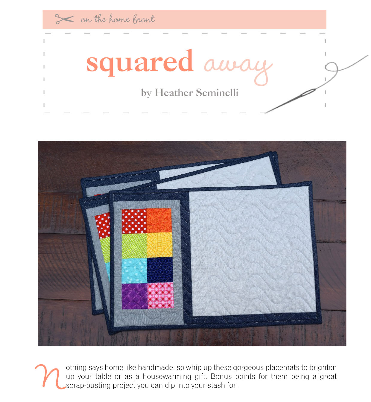Squared Away Placemats