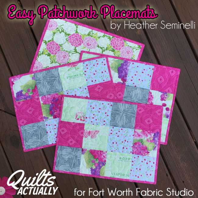 Easy Patchwork Placemats Tutorial Qa Creations
