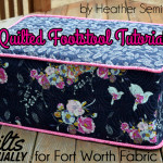 Quilted Footstool Tutorial