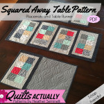 Squared Away Table Pattern